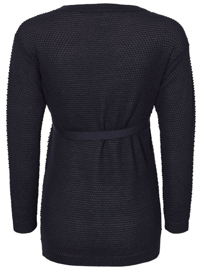 KNITTED MATERNITY SWEATER, Navy Blazer, large