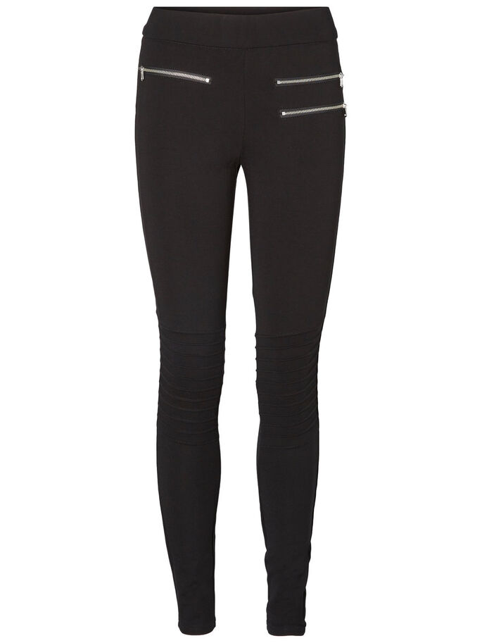 HW ZIP JEGGINGS, Black, large