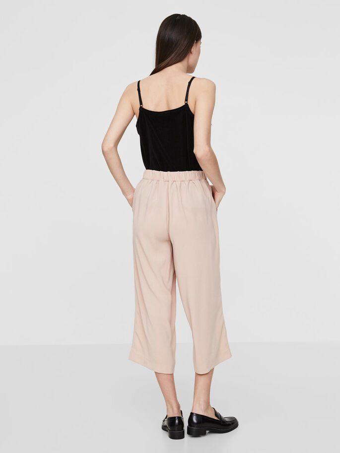 CULOTTE TROUSERS, Rose Dust, large