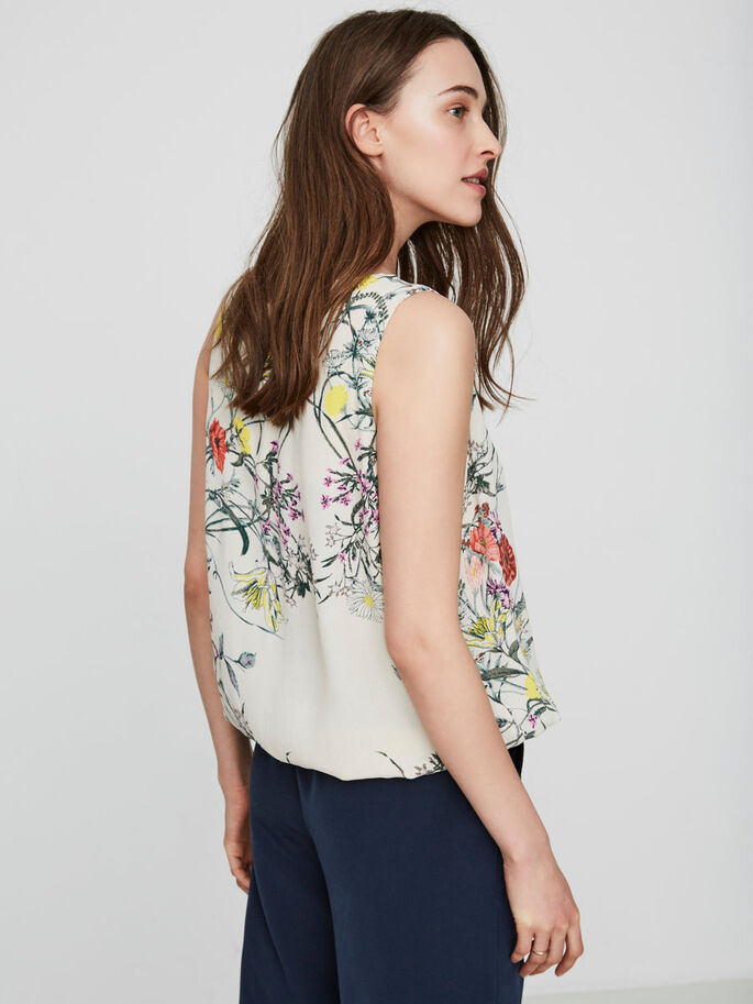 BLOEMENPRINT MOUWLOZE TOP, Moonbeam, large