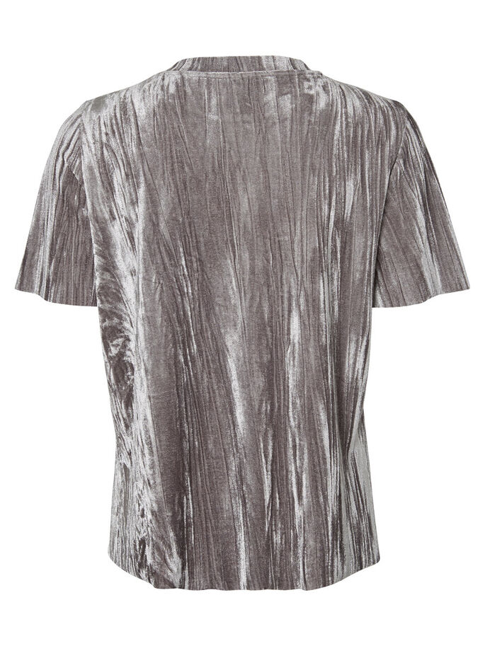 VELOUR BLUSE MED 2/4-ÆRMER, Smoked Pearl, large