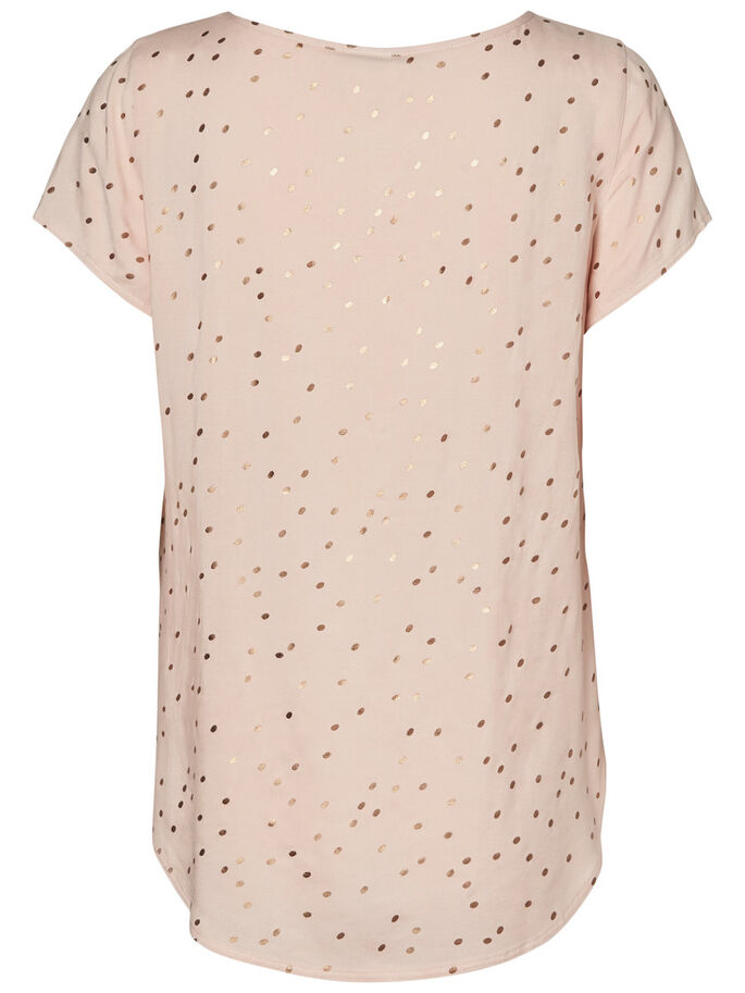 VISCOSE SHORT SLEEVED TOP, Cameo Rose, large