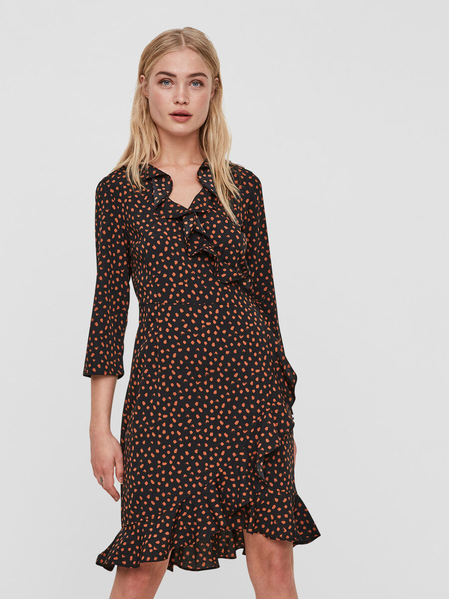 Henna dress vero moda zwart