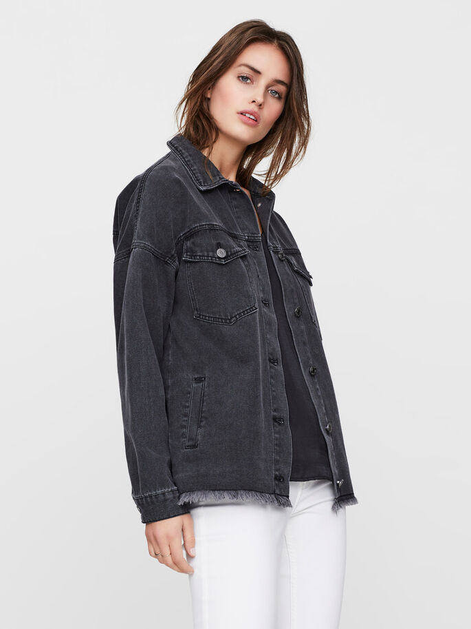 DENIMSYDD JACKA, Black, large