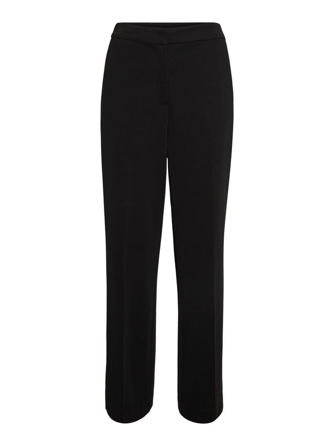 HIGH-WAIST BROEK, Black, large