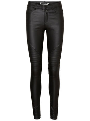 LUCY NW COATED BIKER JEANS