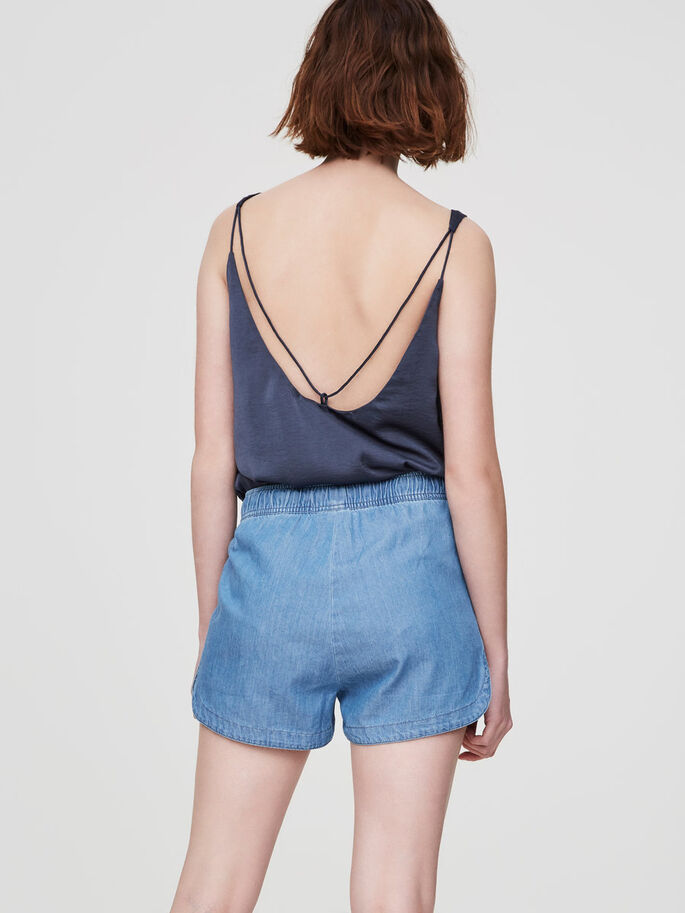 NW DENIM SHORTS, Light Blue Denim, large
