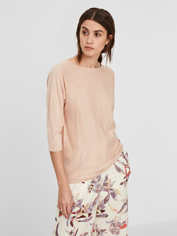 CASUAL BLOUSE MANCHES 3/4, Cameo Rose, large