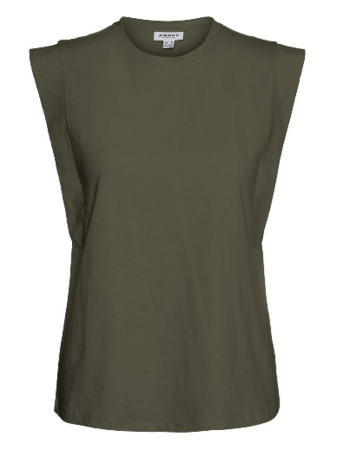 SHORT SLEEVED TOP, Ivy Green, large