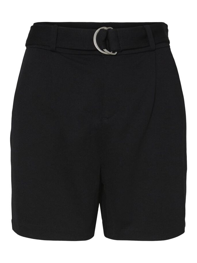 HIGH-WAIST SHORTS, Black, large