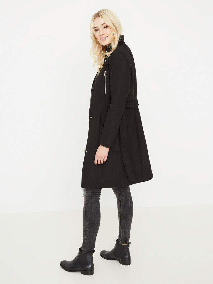 LAINE MANTEAU, Black, large