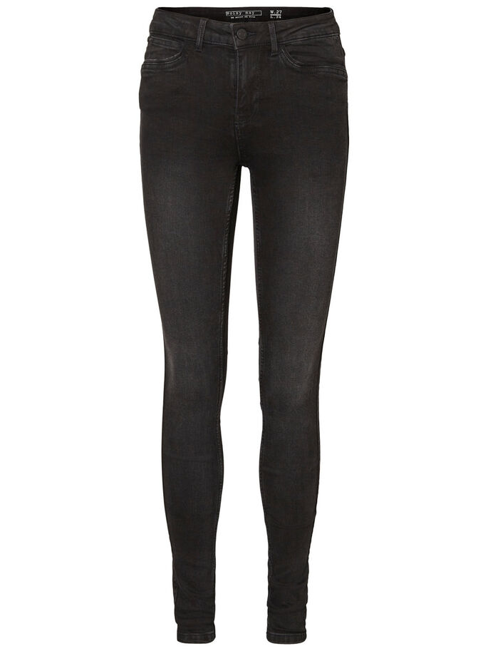 LUCY NW SUPER SKINNY FIT JEANS, Black, large