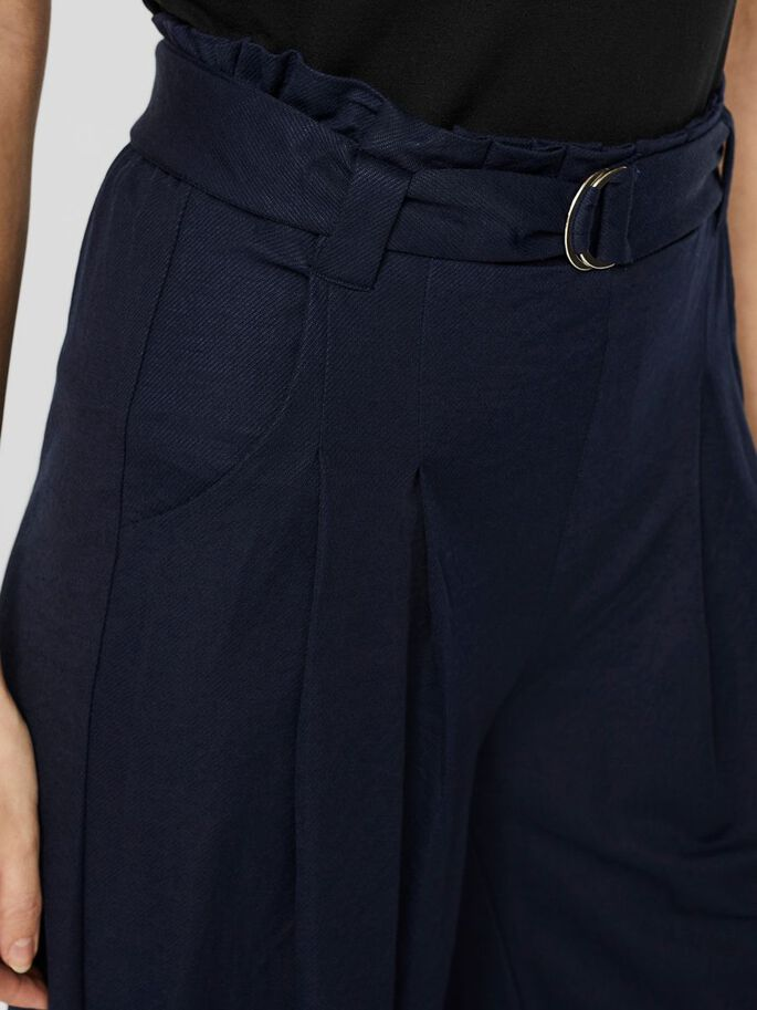 HIGH WAISTED CULOTTE TROUSERS, Navy Blazer, large