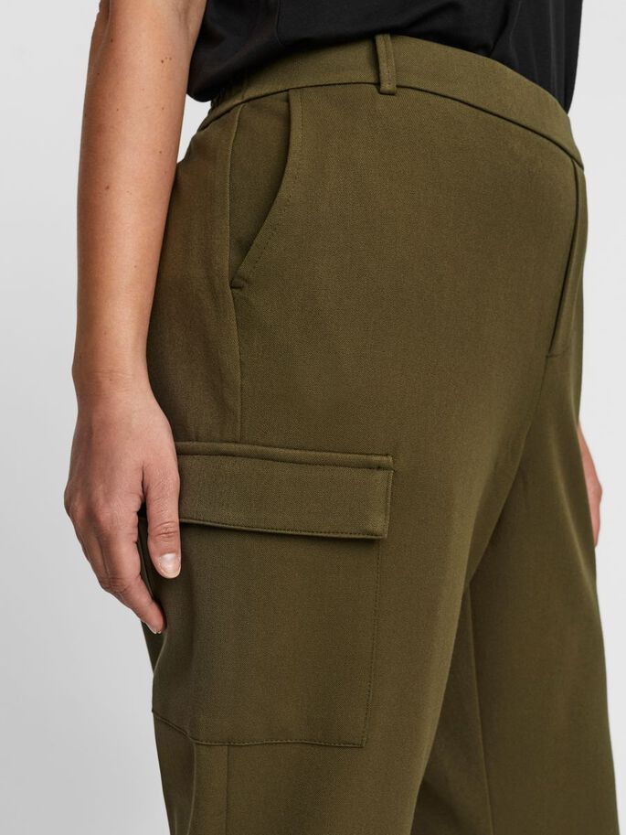 LOOSE FIT CARGO TROUSERS, Ivy Green, large