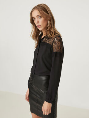 LACE LONG SLEEVED SHIRT