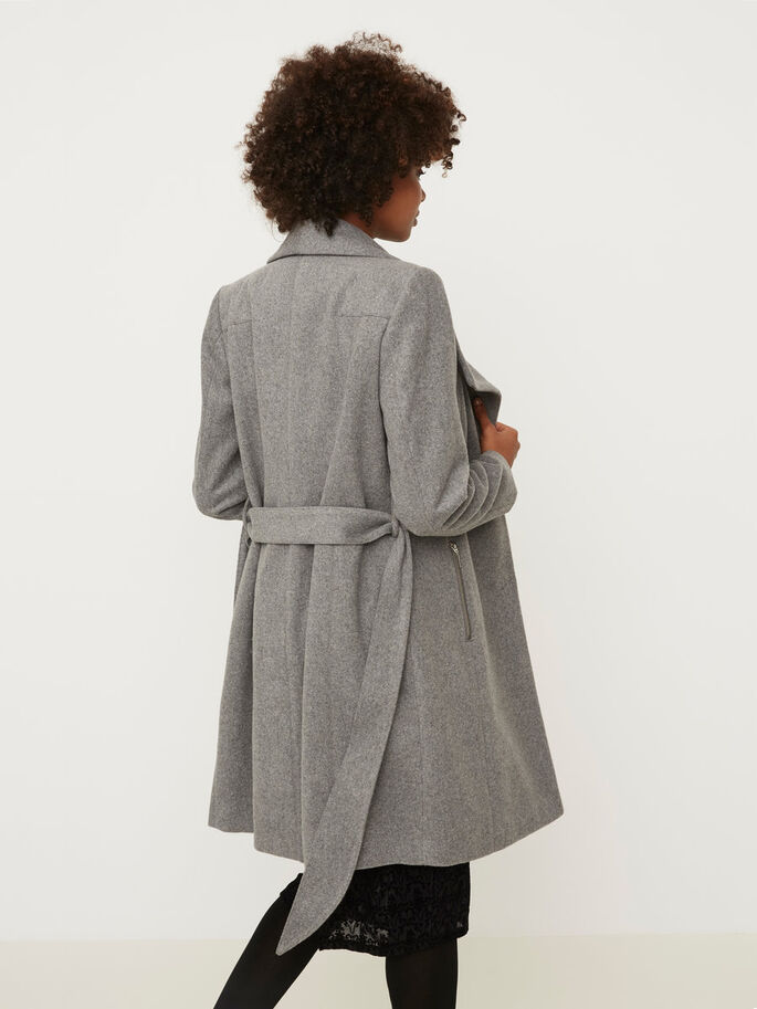 WOOL JACKET, Light Grey Melange, large
