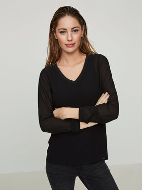 FEMININE LONG SLEEVED BLOUSE