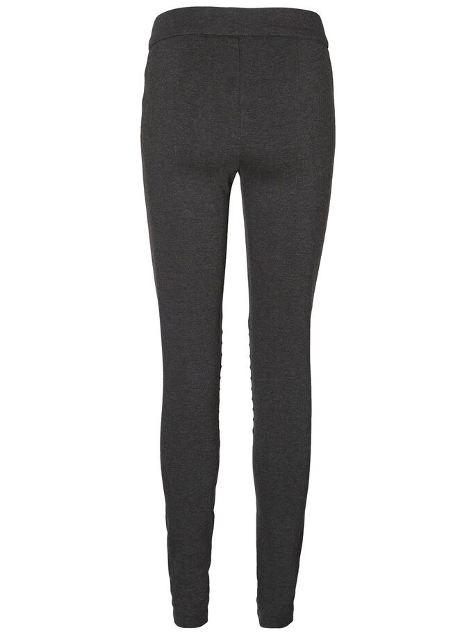 HW REISSVERSCHLUSS- JEGGINGS, Dark Grey Melange, large