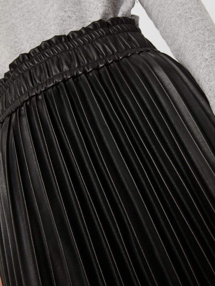 HIGH WAIST PLEATED MIDI SKIRT, Black, large