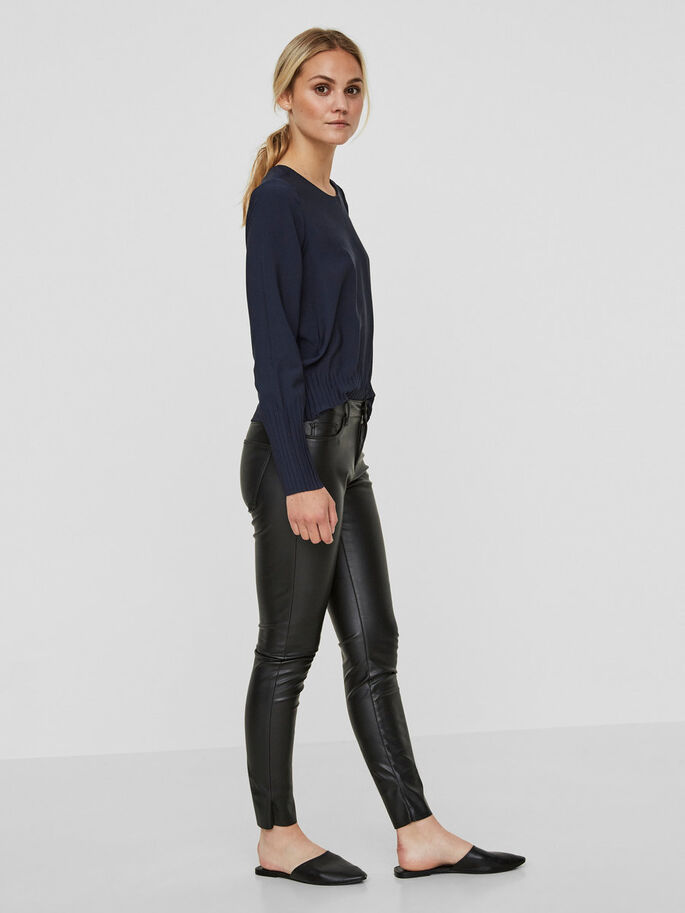 SEVEN NW CUIR SYNTHÉTIQUE PANTALON, Black, large