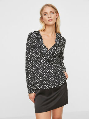 HENNA DOT LONG SLEEVED TOP