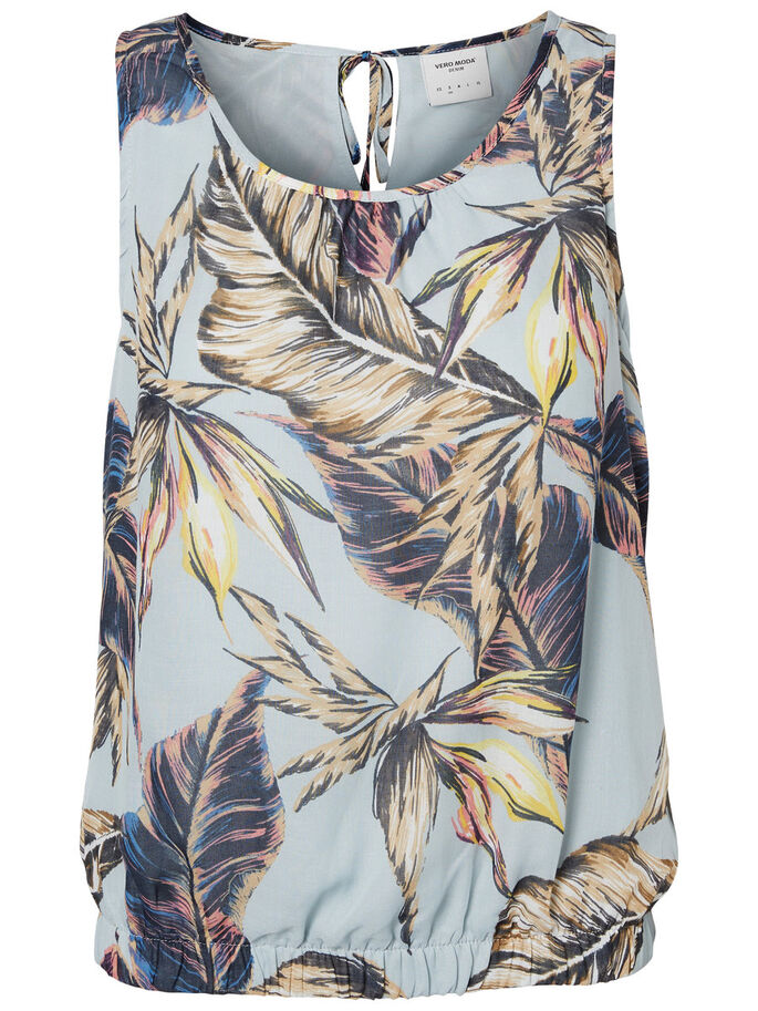 PALM PRINTED SLEEVELESS TOP, Plein Air, large