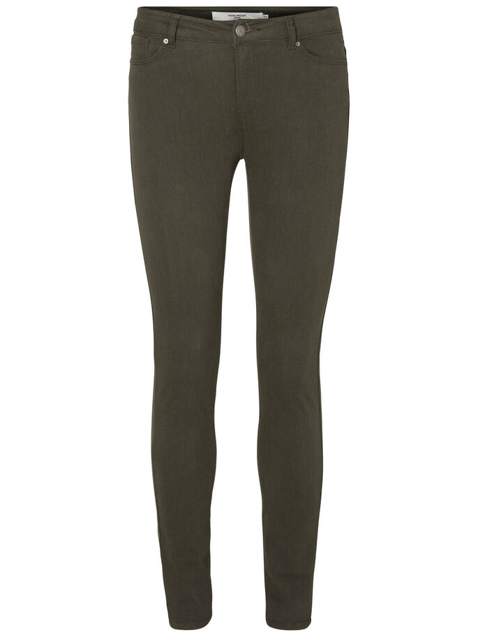 SEVEN NW SMOOTH SKINNY JEANS, Peat, large
