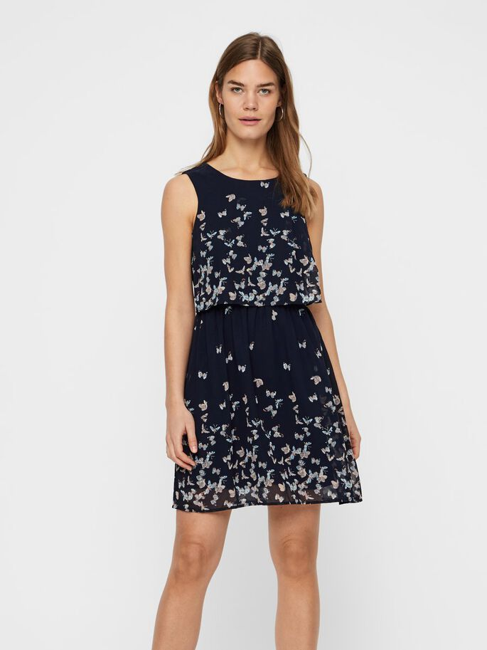 a6a69468d2a Printed sleeveless dress