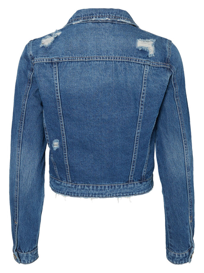 DESTROYED VESTE EN JEAN, Medium Blue Denim, large