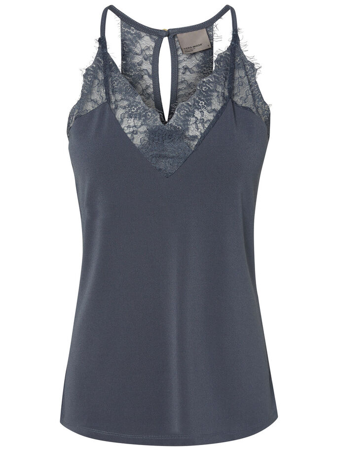 LACE SINGLET, Ombre Blue, large
