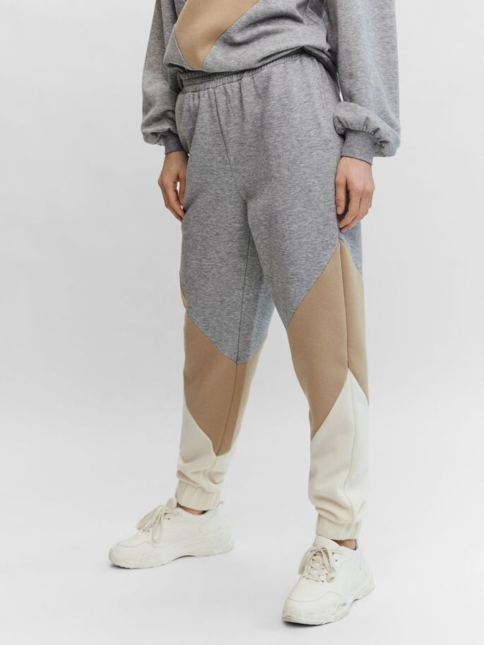HIGH WAIST SWEATHOSE, Light Grey Melange, large