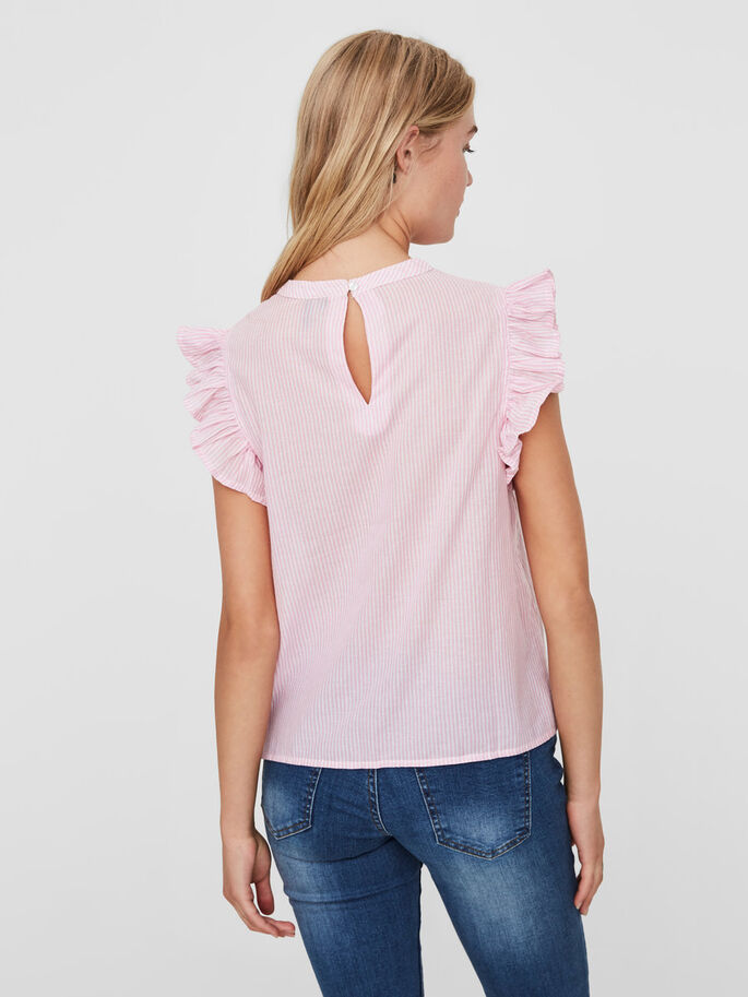 FRILL SLEEVELESS TOP, Orchid Smoke, large