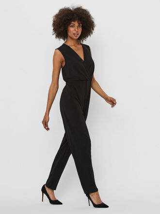 LACED SLEEVELESS JUMPSUIT