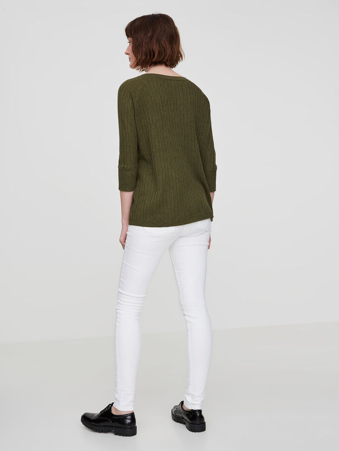CASUAL 3/4 SLEEVED BLOUSE, Ivy Green, large