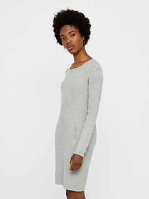 KNITTED LONG SLEEVED DRESS