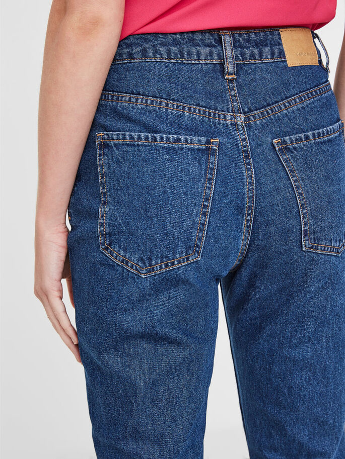 NINETEEN HW LOOSE FIT JEANS, Medium Blue Denim, large