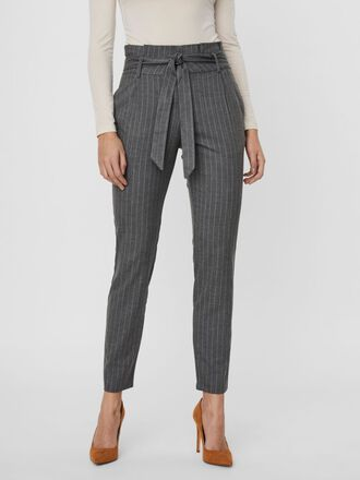 HIGH WAIST PINSTRIPED PAPERBAG TROUSERS
