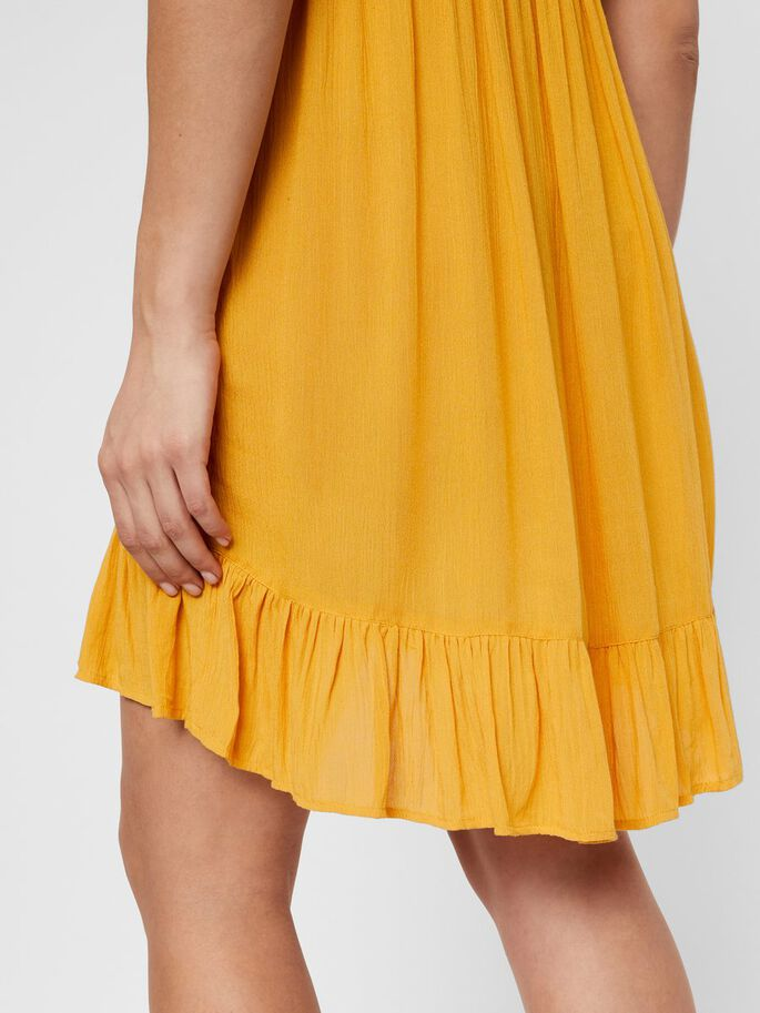 FRILL DETAILED MATERNITY DRESS, Golden Spice, large