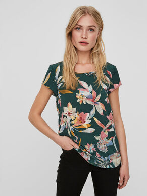 FLOWER SHORT SLEEVED TOP