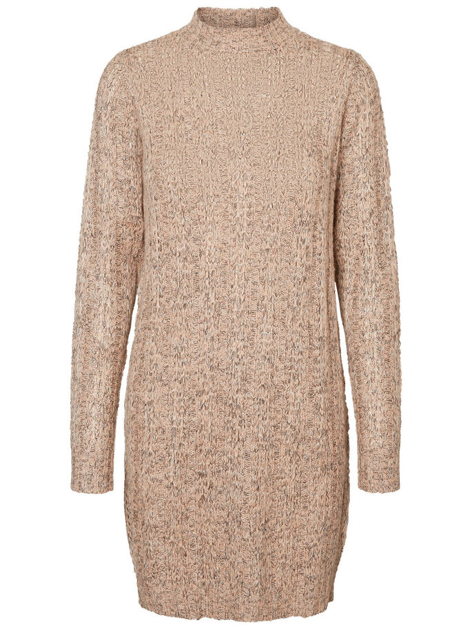 CASUAL KNITTED DRESS, Rose Cloud, large