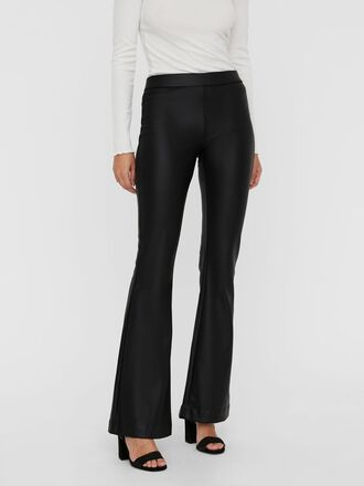 NORMAL WAIST COATED TROUSERS
