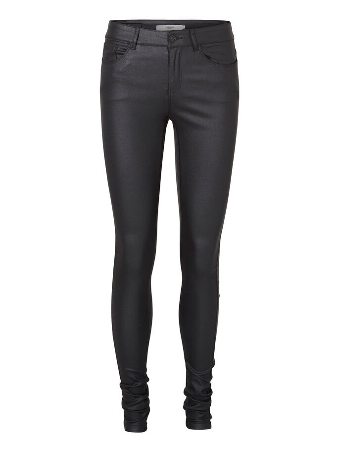 SEVEN NW SMOOTH COATED TROUSERS, Black, large