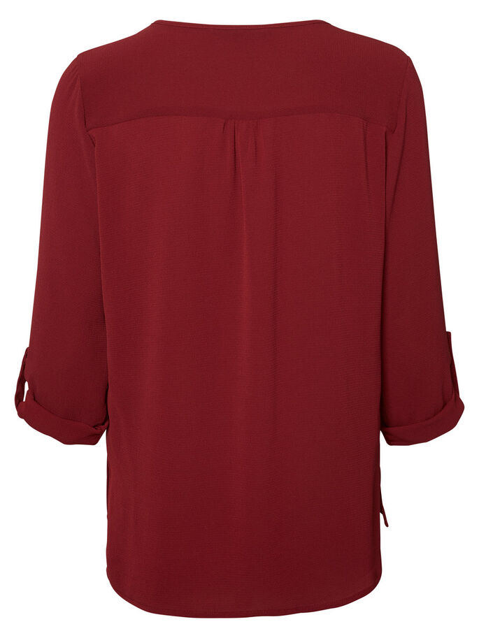 CASUAL 3/4 SLEEVED BLOUSE, Zinfandel, large