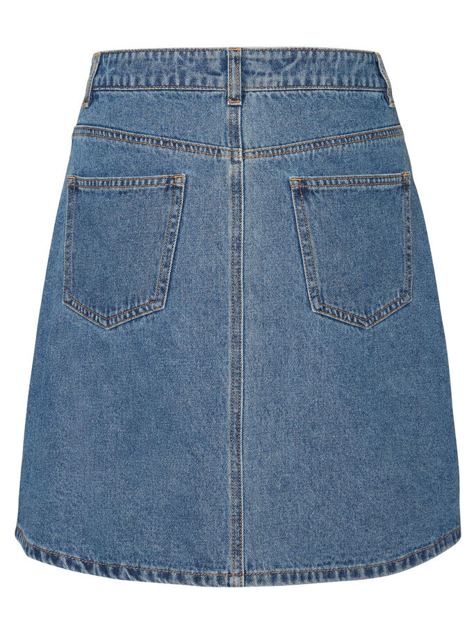 DENIM SKIRT, Medium Blue Denim, large