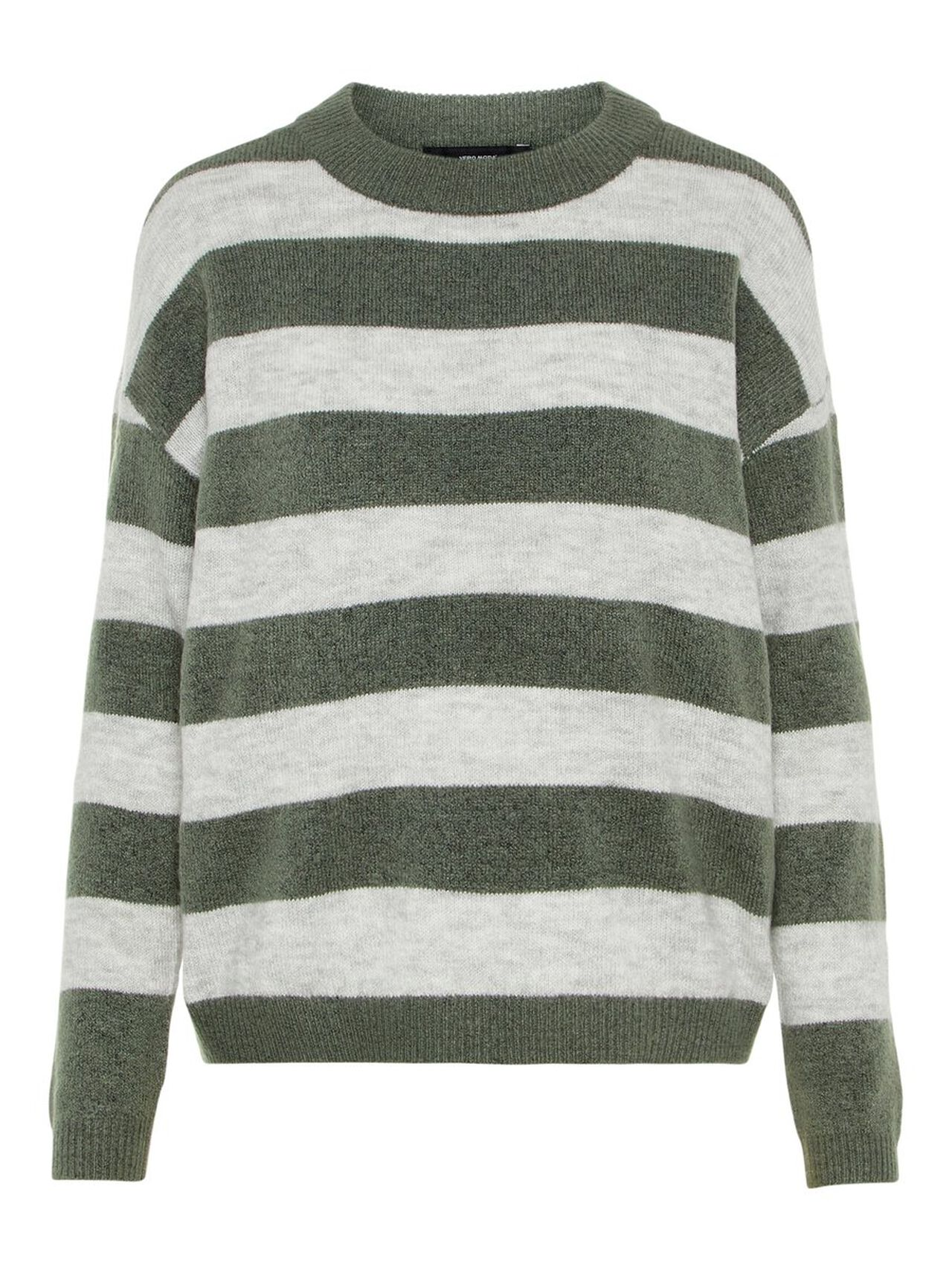 Striped Knitted Pullover Women green