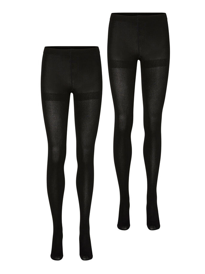 2ER-PACK TIGHTS, Black, large