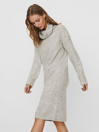 HIGH NECK KNITTED MIDI DRESS