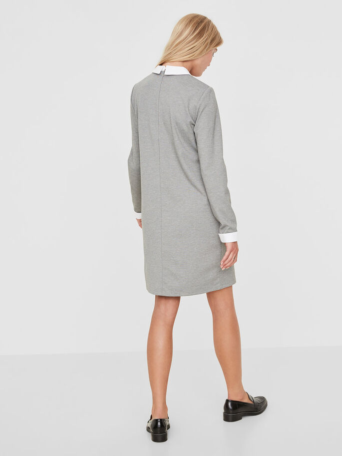 BLOUSE JURK, Medium Grey Melange, large