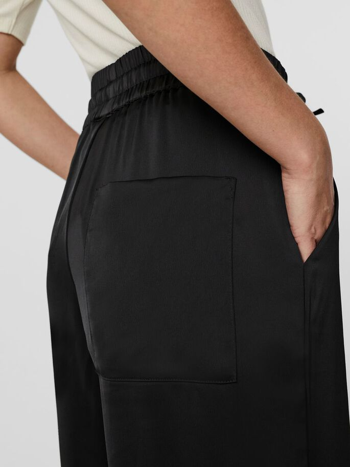 HIGH WAISTED TROUSERS, Black, large
