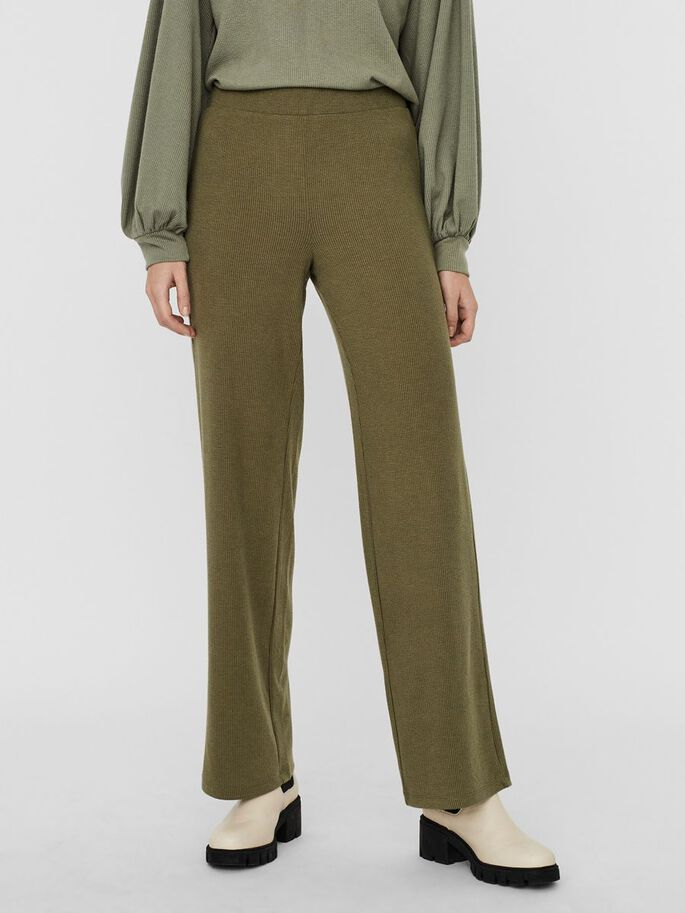 STRAIGHT TROUSERS, Dusty Olive, large